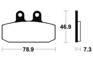 Predné brzdové doštičky SBS 588HF - Honda CITYFLY 125ccm - 99>