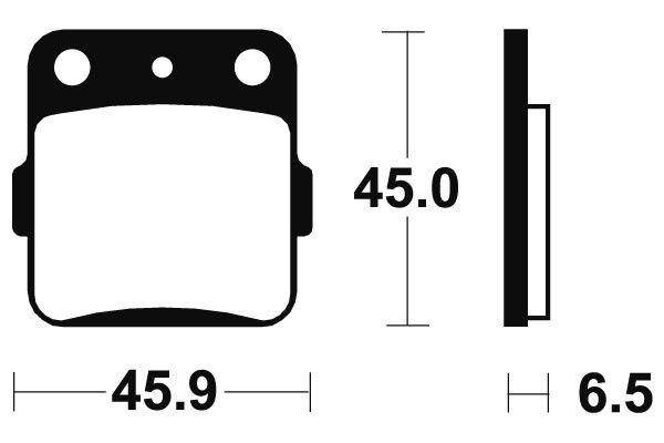 Predné brzdové doštičky SBS 584RSI - Honda CRF R 150ccm - 07> SBS (Bendix)