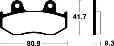 Predné brzdové doštičky SBS 125HF - Honda Dylan 125ccm - 02> SBS (Bendix)