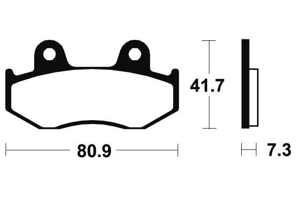 Predné brzdové doštičky SBS 104HF - Honda SH 125ccm - 01>08 SBS (Bendix)