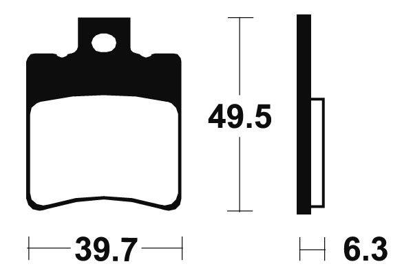 Predné brzdové doštičky SBS 123HF - Honda SH 50 ccm - 00> SBS (Bendix)