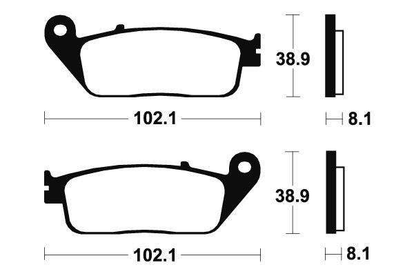 Predné brzdové doštičky SBS 627HF - Honda XR L 125ccm - 03> SBS (Bendix)