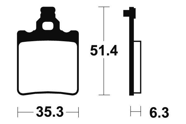Zadné brzdové doštičky SBS 106HF - Aprilia RS Replica 50 ccm - 03>05 SBS (Bendix)