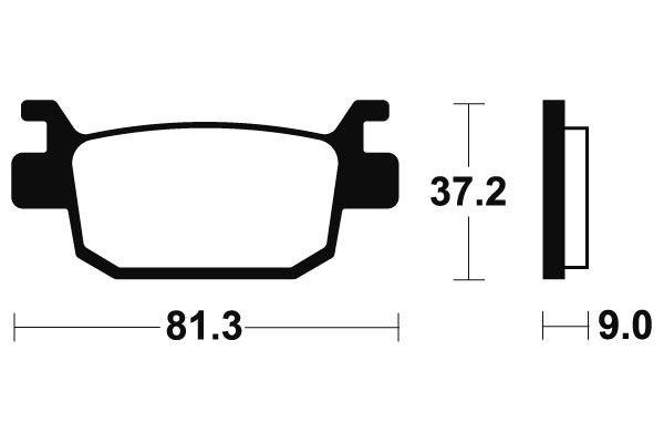 Zadné brzdové doštičky SBS 193HF - Honda SH 150ccm - 09> SBS (Bendix)