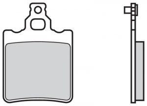 Zadné brzdové doštičky Brembo 07BB13SD - Aprilia RS Replica 50 ccm - 03>05