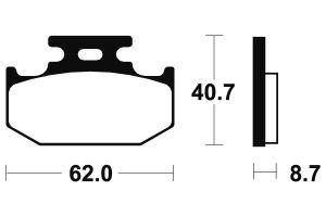 Zadné brzdové doštičky SBS 632HF- Yamaha DT 125 X, 125ccm - 05-06