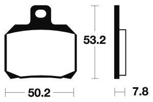 Zadné brzdové doštičky SBS 157HF - Yamaha Maxster 125ccm - 01>