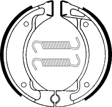 Zadné brzdové čeľuste SBS (Bendix) BA 050- Yamaha Crypton 105ccm - 98>