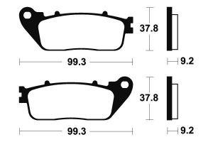 Zadné brzdové doštičky SBS 862HF - Honda CB 1000 R, 1000ccm - 08-16