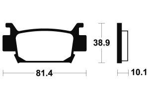 Zadné brzdové doštičky SBS 829SI - Honda TRX 700 XX, 700ccm - 08-11