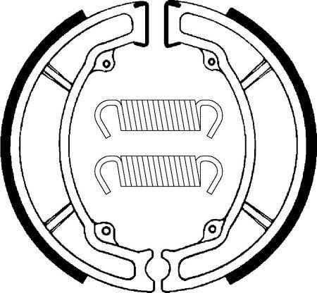 Zadné brzdové čeľuste SBS (Bendix) BA 034 - Yamaha DT 175ccm - 00>