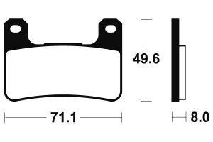 Predné brzdové doštičky Brembo 07SU27SA - Suzuki GSX 1300 R Hayabusa, 1300ccm - 08-12