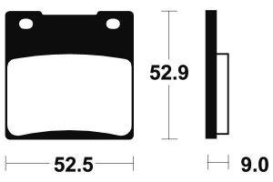 Zadné brzdové doštičky Brembo 07KS0507 - Suzuki GSX 1300 R Hayabusa, 1300ccm - 99-07