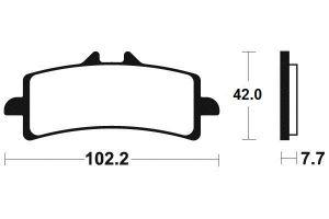 Predné brzdové doštičky Brembo 07BB37RC - BMW HP4, 1000ccm - 12-16