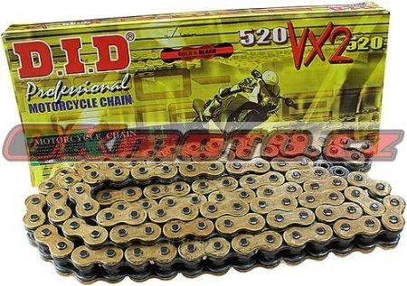 Reťaz DID - 520VX2 - X-ring - 100 článkov-zlatý D.I.D (Japonsko)