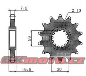 Reťazové koliesko SUNSTAR - Honda CBR 600 RR, 600ccm - 03-17 SUNSTAR (Japonsko)