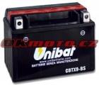 Motobatéria Unibat CBTX9-BS, 12V, 8Ah