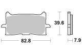 Predné brzdové doštičky Brembo 07HO62LA - Honda CRF 1000 L Africa Twin, 1000ccm - 16-19