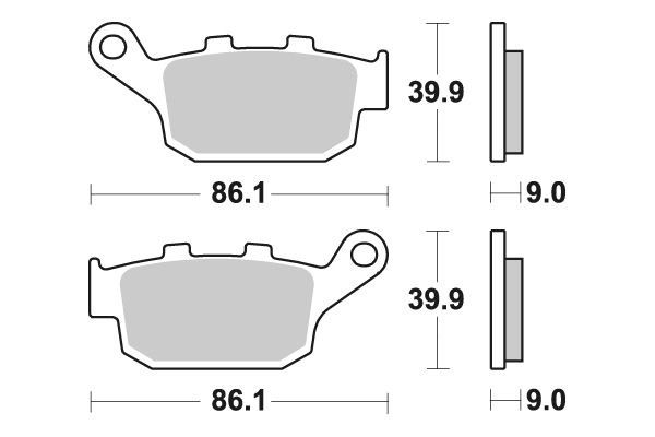 Zadné brzdové doštičky SBS 881LS - Honda NC 750 X, 750ccm - 14-17 SBS (Bendix)