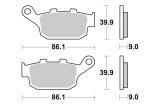 Zadné brzdové doštičky SBS 881LS - Honda NC 750 X DCT, 750ccm - 14-16