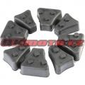 Tlmiace gumy do unášača rozety - Yamaha XVS 125 Drag Star, 125ccm - 00-04