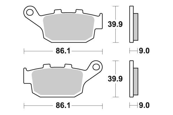 Zadné brzdové doštičky SBS 881LS - Honda CB 500 X, 500ccm - 13-18 SBS (Bendix)