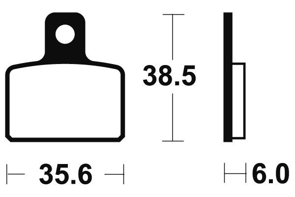 Predné brzdové doštičky SBS 803HF - Aprilia Mini RX 50 ccm - 04> SBS (Bendix)