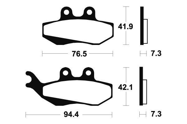 Predné brzdové doštičky SBS 120HF - Aprilia RS Replica 50 ccm - 03>05 SBS (Bendix)