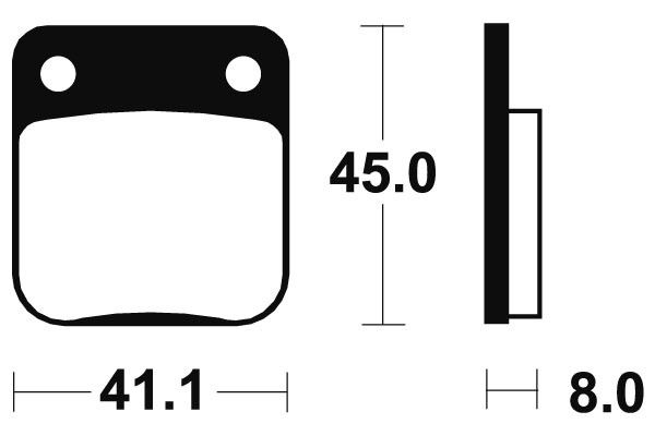 Predné brzdové doštičky SBS 536HF - Honda CG 150ccm - 04> SBS (Bendix)