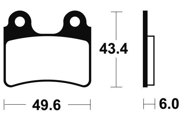 Predné brzdové doštičky SBS 802HF - Honda COTA 4 RT 250ccm - 05> SBS (Bendix)