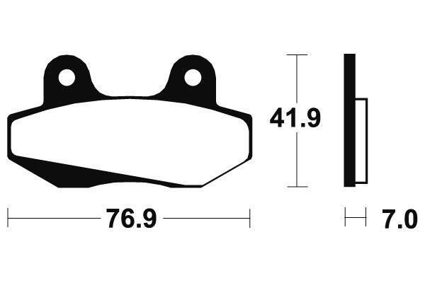 Predné brzdové doštičky SBS 551HF - Honda FJ Sonic 125ccm - 03> SBS (Bendix)