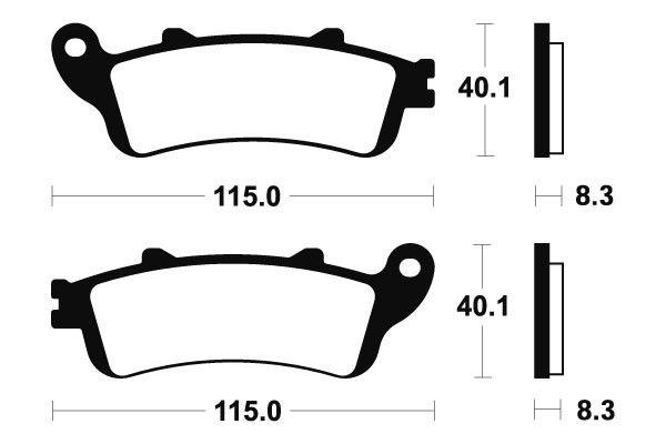 Predné brzdové doštičky SBS 735HS - Honda Foresight 250ccm - 00> SBS (Bendix)