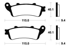 Predné brzdové doštičky SBS 147HF - Honda Pantheon FES 125ccm - 98>02