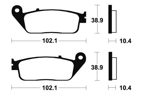 Predné brzdové doštičky SBS 654HS - Honda VTR 250ccm - 98> SBS (Bendix)