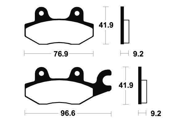Predné brzdové doštičky SBS 119HF - Honda NSR, 150ccm - 02> SBS (Bendix)