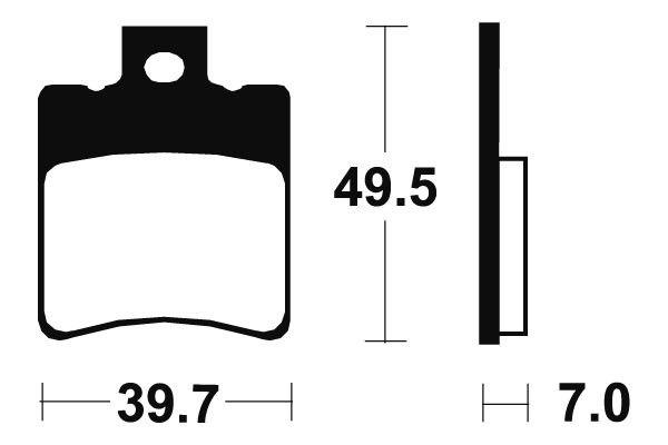 Predné brzdové doštičky SBS 143HF - Aprilia Mojito/Mojito Custom 50 ccm - 03>10 SBS (Bendix)