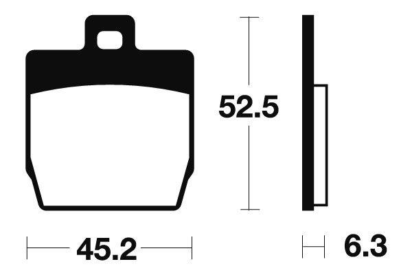 Predné brzdové doštičky SBS 145HF - Yamaha Slider 50ccm - 00> SBS (Bendix)