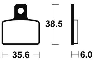 Zadné brzdové doštičky SBS 803HF - Honda COTA 4 RT 250ccm - 05>