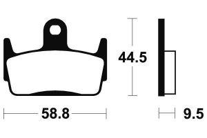 Zadné brzdové doštičky SBS 129HF - Honda CR 80ccm - 03>