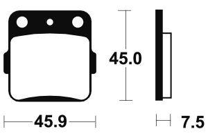 Zadné brzdové doštičky SBS 592SI - Honda TRX EX SPORTRAX 300ccm - 01>08