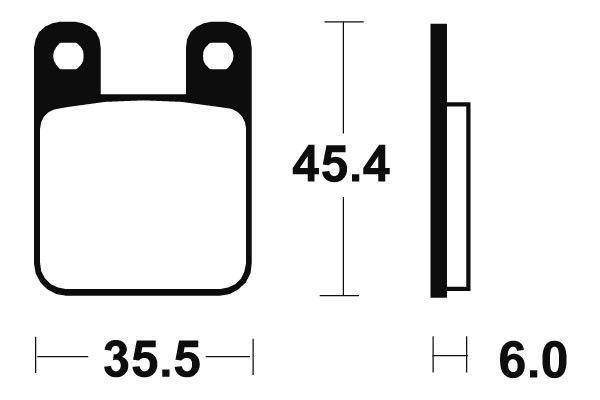 Zadné brzdové doštičky SBS 105HF - Yamaha TZR 50ccm - 03> SBS (Bendix)