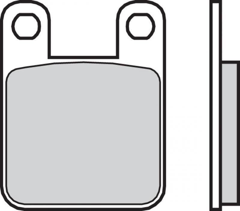 Zadné brzdové doštičky Brembo 07044 - Aprilia RS 50 ccm - 06> Brembo (Itálie)