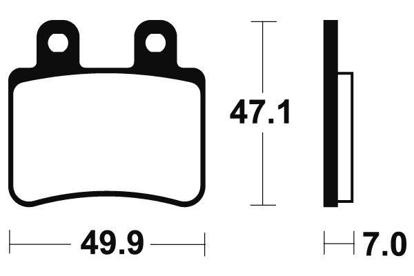 Zadné brzdové doštičky Brembo 07048 - Yamaha DT R 50ccm - 04> Brembo (Itálie)
