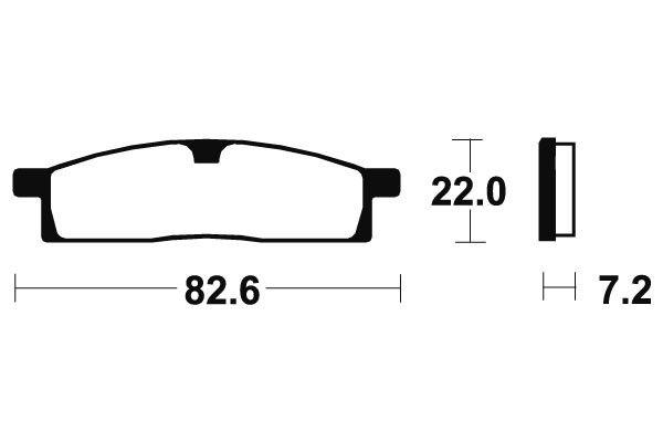Predné brzdové doštičky SBS 589HF - Yamaha TT-R LW 125ccm - 00> SBS (Bendix)