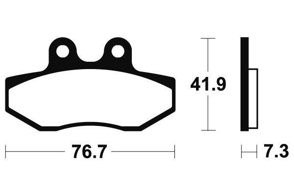 Predné brzdové doštičky SBS 186HF - Yamaha XT X Supermotard 125ccm - 05> SBS (Bendix)