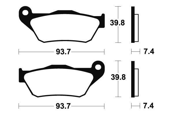 Predné brzdové doštičky Brembo 07065XS - Yamaha X-Max 125ccm - 06>09 Brembo (Itálie)
