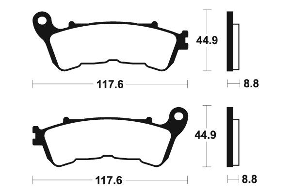Predné brzdové doštičky Brembo 07HO57SA - Honda CBF 600 S ABS, 600ccm - 08-12 Brembo (Itálie)