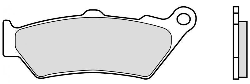 Predné brzdové doštičky Brembo 07BB03SA - Honda NT 650 V Deauville, 650ccm - 98-01 Brembo (Itálie)