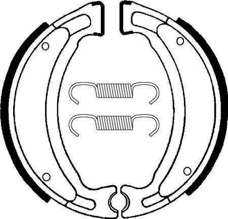 Zadné brzdové čeľuste SBS (Bendix) BA 028 - Yamaha TW 125ccm - 99>