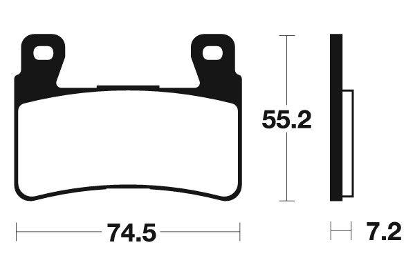 Predné brzdové doštičky SBS 734HF - Honda CBR 954 RR Fireblade, 954ccm - 02-03 SBS (Bendix)